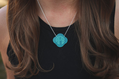 Monogram Engraved Necklace www.tinytulip.com