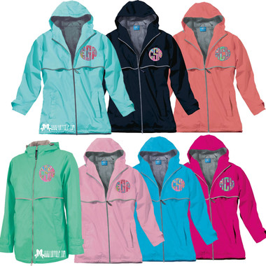 Lilly Pulitzer Monogrammed Raincoat www.tinytulip.com