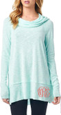 Monogrammed Cowl Neck Long Sleeve Top www.tinytulip.com