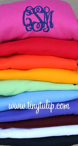 Monogrammed Hooded Sweatshirts www.tinytulip.com