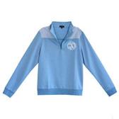 Monogrammed Blue Seersucker Pullover www.tinytulip.com