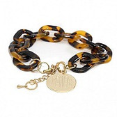 Monogrammed Tortoise Engraved Charm Bracelet www.tinytulip.com
