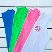 Monogrammed Youth Bro Tank www.tinytulip.com