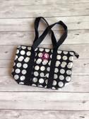 Monogrammed Polka Dot Lunch Bag www.tinytulip.com Preppy Pink Master Script