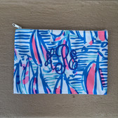 Lilly Pulitzer Monogrammed Pencil Case Red Right Return