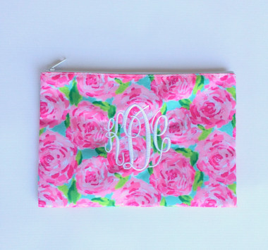 Lilly Pulitzer Monogrammed Pencil Cosmetic Case First Impressions