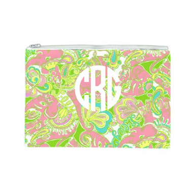 Lilly Pulitzer Monogrammed Pencil Cosmetic Case Chin Chin
