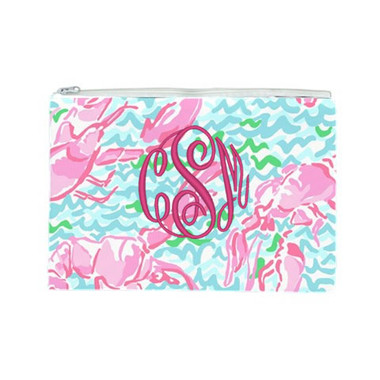 Lilly Pulitzer Monogrammed Pencil Case Lobstah Roll