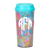 Lilly Pulitzer Scuba to Cuba Monogrammed Thermal Coffee Mug www.tinytulip.com White Circle Monogram