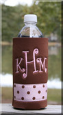 Monogrammed Water Bottle Koozies