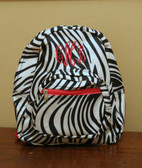 Hot Pink Trim Zebra Backpack with Hot Pink Empire Monogram