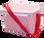 Seersucker Lunchbox ~ Tiny Tulip Monogramming Red Seersucker