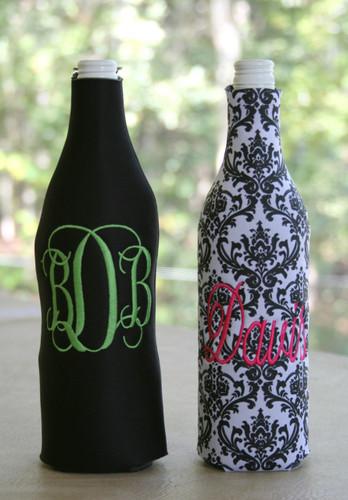 Monogrammed Wine Bottle Koozie  - www.tinytulip.com