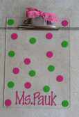 Personalized Preppy Polka Dot Mini Clipboard