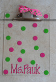 Hot Pink Dot Font with Lime Green Second Polka Dot Color