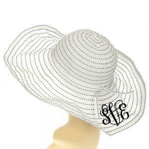 Floppy Dot Sun Hat Monogrammed~ Beach Hat 11b7f34bcd4