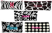 Monogrammed Pencil Pouch Case ~ Damask, Peace, Zebra, Polka Dot, Giraffe