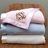 Monogrammed Fuzzy Baby Blanket - www.tinytulip.com