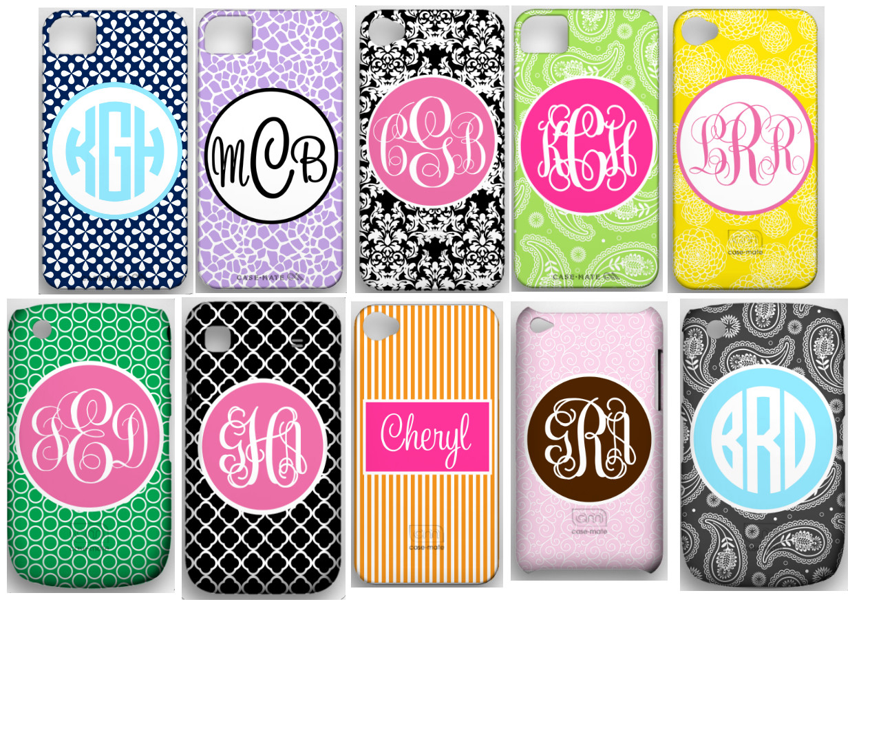 Personalized iphone, blackberry Covers ~ Monogrammed Cell Phone Case