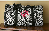 Damask Duffle with Hot Pink Empire Monogram