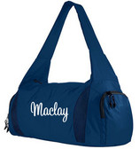 Monogrammed Competition Sports Cheer Bag www.tinytulip.com White Cursive Font