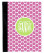 Monogrammed iPad 2 Folding Portfolio Book Case  www.tinytulip.com Lilly Pink Polka Dot Pattern with Solid Circle Lime Green Interlocking Font