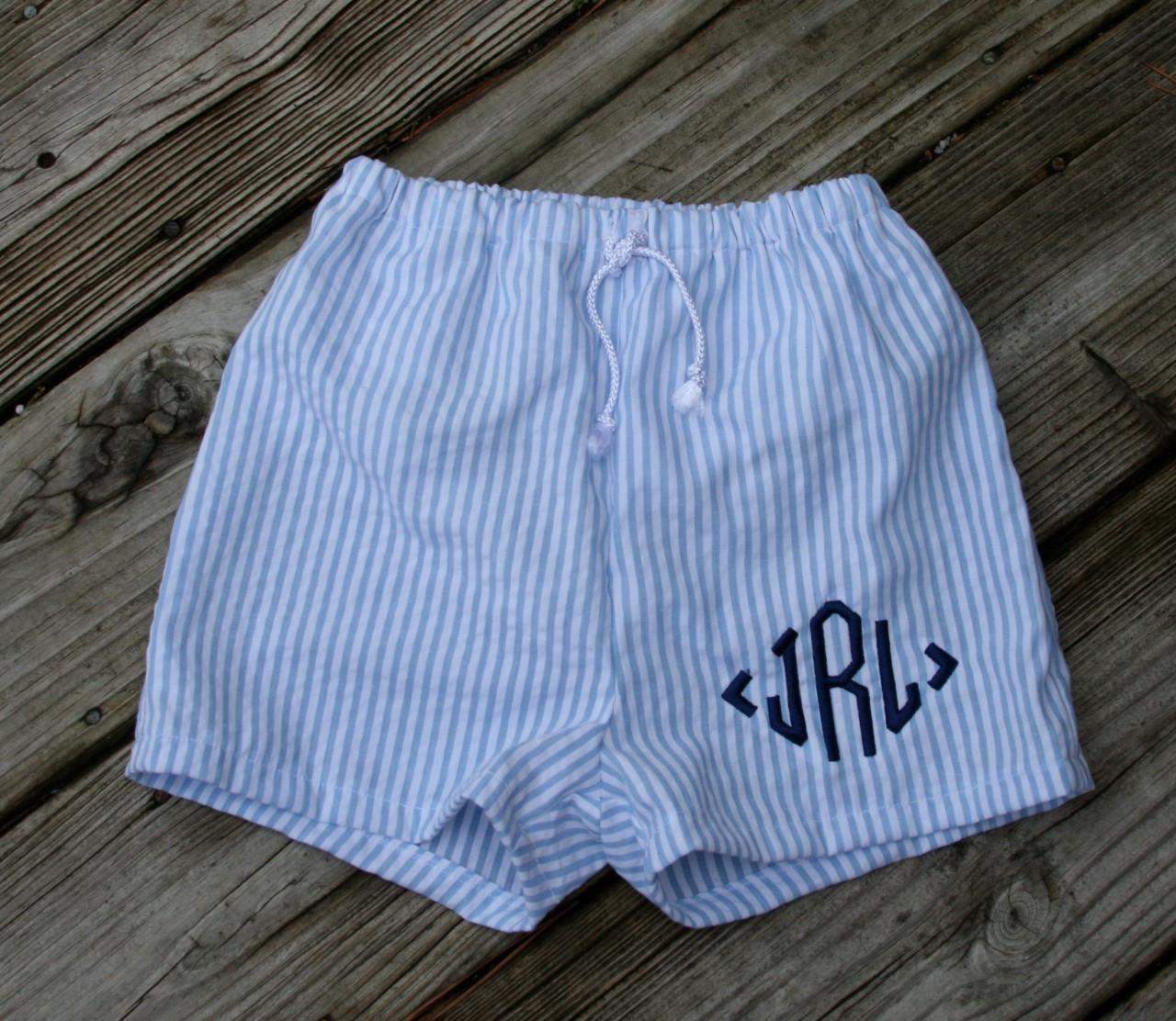 Boys Seersucker Swim Suit Trunks Tinytulip Com We Re All