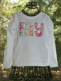 Applique Name Tee Shirt www.tinytulip.com
