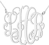 Sterling Silver Cut Out Monogram Necklace  www.tinytulip.com Sterling Silver