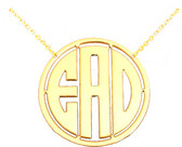 Circle Monogram Cut Out Necklace  www.tinytulip.com