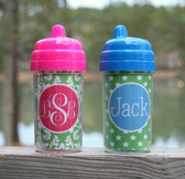 Monogrammed Sippy Cup  www.tinytulip.com