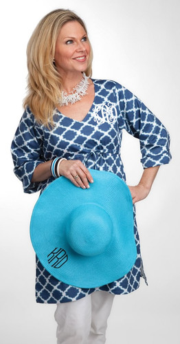 Monogrammed Tunic Swimsuit Cover Up   www.tinytulip.com