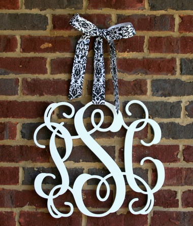 Wooden Interlocking Monogram Wall Decor