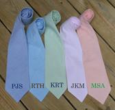 Monogrammed Seersucker Tie  www.tinytulip.com Romana Font