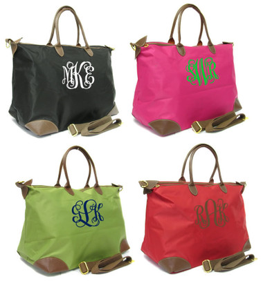 Monogrammed Large Longchamp Style Tote Bag www.tinytulip.com