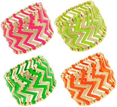 Fashion Stretch Chevron Bracelet www.tinytulip.com