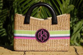 Monogrammed Beverly Basket Bag  www.tinytulip.com