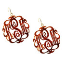 Acrylic Script Monogram Earrings  www.tinytulip.com Tortoise