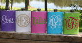 Monogrammed Colored  Hip Flask and Funnel Set  www.tinytulip.com