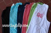 Monogrammed Bro Tank Top  www.tinytulip.com White Tank with Interlocking Monogram