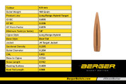 NEW! Berger 6.5mm 144 Grain Long Range Hybrid Target Bullet. (boxes of 100)