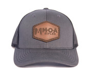 MOA Leather Patch Hat - Charcoal/Black
