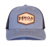 MOA Leather Patch Hat - Grey/Charcoal