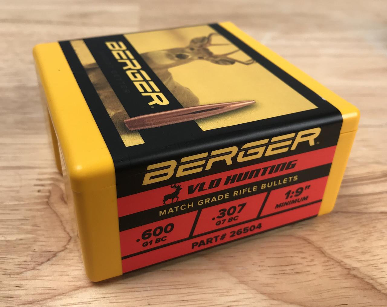 140 Grain VLD 264 Caliber, 6 5mm ( 264 Diameter) Berger Hunting Bullets  (Box of 100)