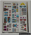 Transformers G1 Piranacon Sticker Sheet.