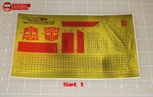 Transformers G1 Sky Lynx Premium Sticker Sheet with Factory Pre-applied Stickers
