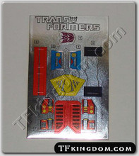 Transformers G1 Bombshell Sticker Sheet.