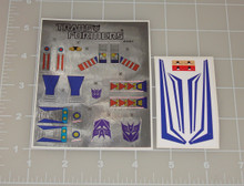 Transformers G1 Skywarp Sticker Sheet