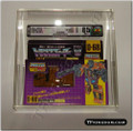 Takara Transformers G1 Swindle AFA 85, 85/85/90 in Archival Case.