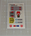 Transformers G1 Hardhead Sticker Sheet with factory pre-applied stickers